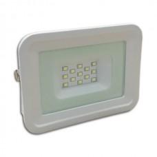 LED Προβολέας  10W White Body IP65  SMD 2700K