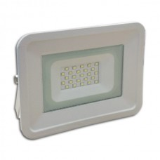 LED Προβολέας  10W White Body IP65  SMD 6000K