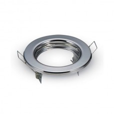 Βάση για Spot Χωνευτή Στρογγυλή Σταθερή Φ80 Χρώμιο