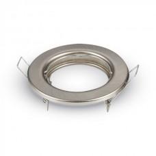 Βάση για Spot Χωνευτή Στρογγυλή Σταθερή Φ80 Νίκελ Ματ