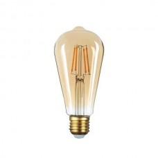ΛΑΜΠΤΗΡΑΣ LED E27 ST64 8W FILAMENT Θερμού Φωτισμού 2500k