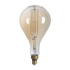 ΛΑΜΠΤΗΡΑΣ LED E27 PS160 8W FILAMENT DIMMABLE Θερμού Φωτισμού 1800k GOLDEN