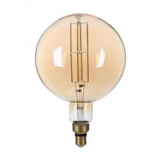 ΛΑΜΠΤΗΡΑΣ LED E27 G200 8W FILAMENT DIMMABLE Θερμού Φωτισμού 1800k GOLDEN