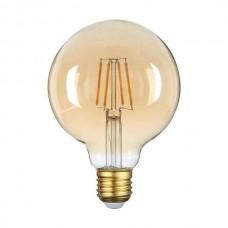ΛΑΜΠΤΗΡΑΣ LED E27 G95 4W FILAMENT Θερμού Φωτισμού 2700k GOLDEN