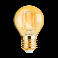 ΛΑΜΠΤΗΡΑΣ LED E27 4W FILAMENT G45 2200K BRAYTRON