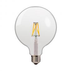 ΛΑΜΠΤΗΡΑΣ LED E27 4W FILAMENT G120 Θερμού φωτισμού 2700κ