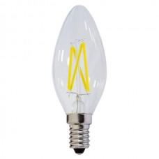ΛΑΜΠΤΗΡΑΣ LED E14 4W FILAMENT C35  Θερμού Φωτισμού 2700k