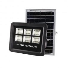 LED Solar Powered Floodlight + Solar Panel Προβολέας 100W Solar Panel 35W 6000K